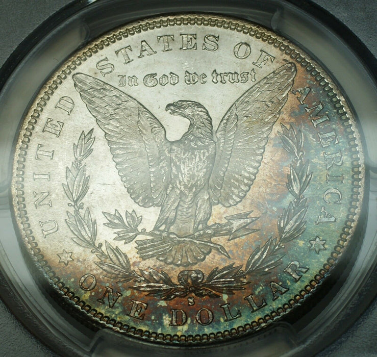 1881-S Morgan Silver Dollar $1 PCGS MS-65 Gem Coin Beautifully Toned Reverse GF