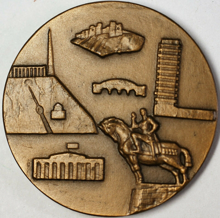 Nation of Georgia High Relief Thbilissi Capitol Uncirculated Bronze Medal