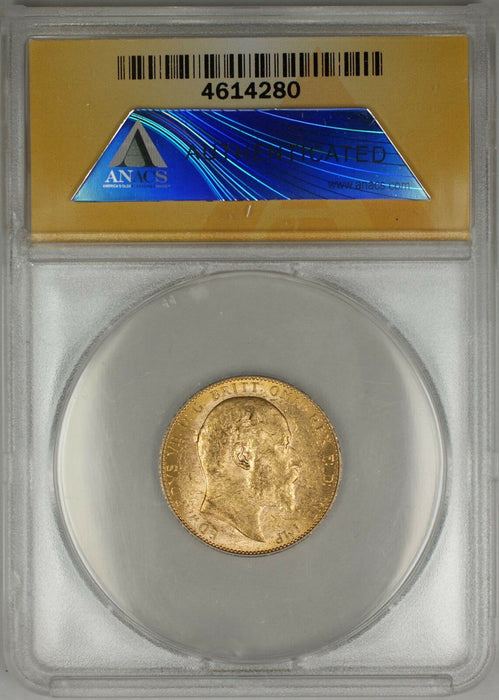 1909-P Australia Sovereign Gold Coin ANACS MS-61 (B AMT)