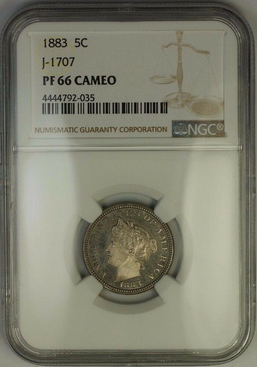 1883 Liberty Nickel Pattern Proof 5c Coin NGC PF-66 CAM Cameo J-1707 Judd WW