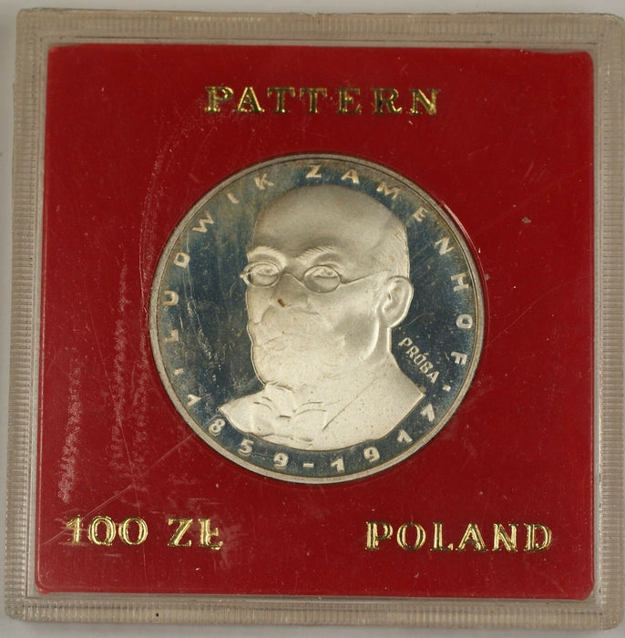 1979 100 Zloty Polish Silver Proof Commemorative Zamenhof Coin