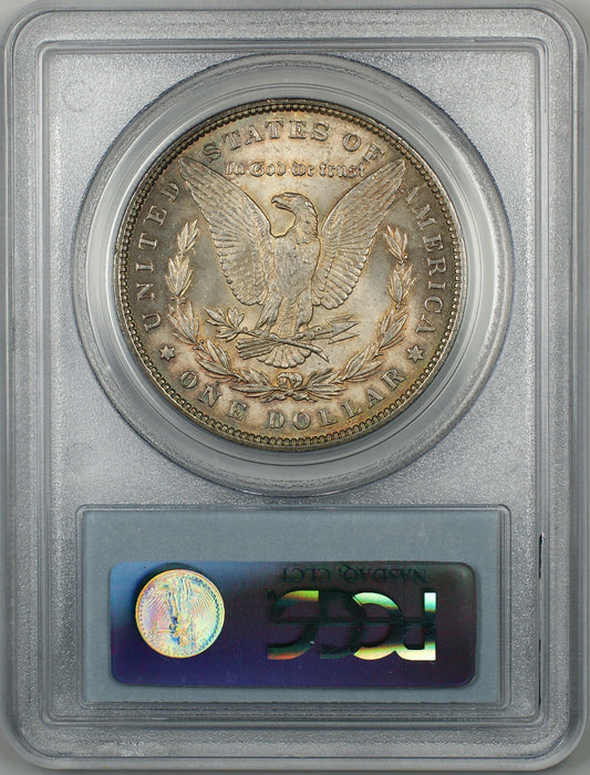 1889 Morgan Silver Dollar $1 Coin PCGS MS-63 Toned (BR-22 L)