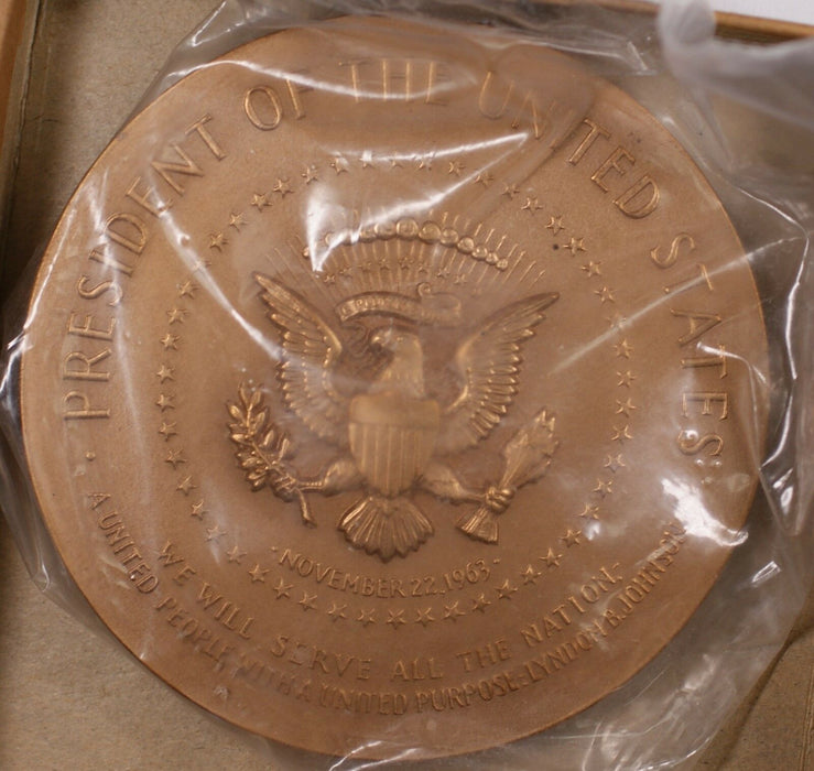 US Mint Lyndon B Johnson Presidential High Relief Bronze First Inaugural Medal