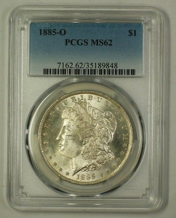 1885-O US Morgan Silver Dollar Coin $1 PCGS MS-62 (Better) (C) (18)