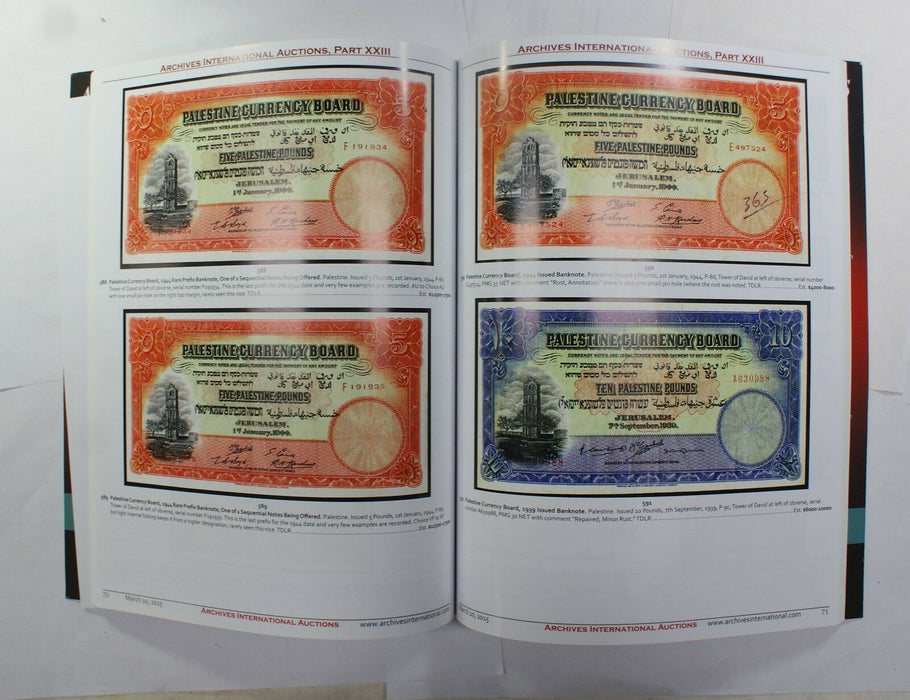 3/10/15  US & World Banknotes Part XXIII Archives INTL Auction Catalog A233
