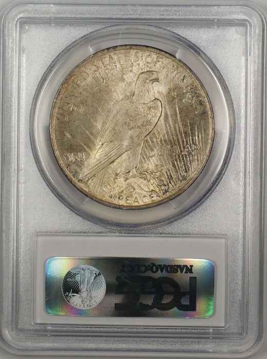 1923 Silver Peace Dollar $1 Coin PCGS MS-63 Toned (12c)