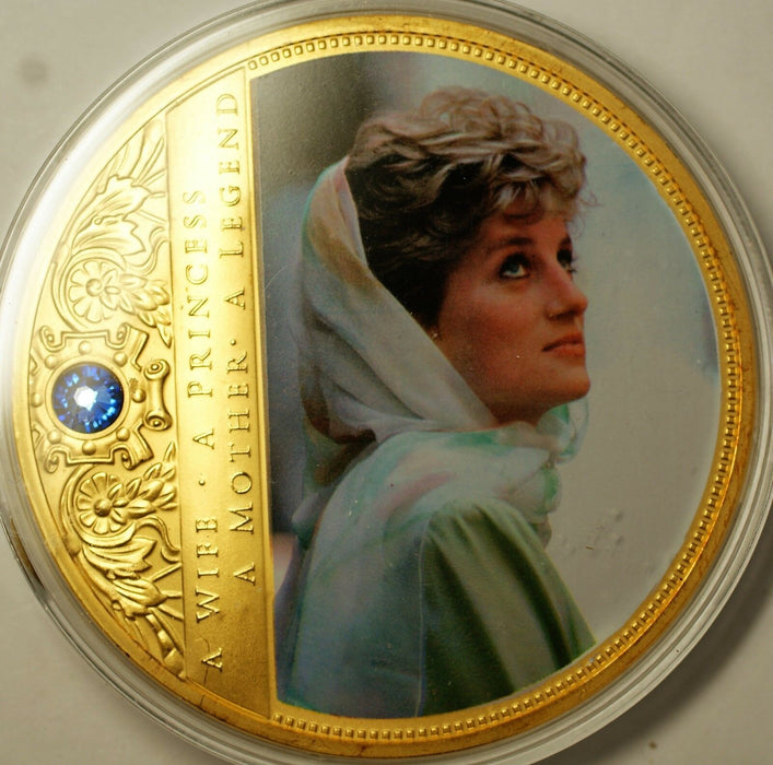 Portraits of Princess Diana Cairo Commem Large Proof Medal Non-precious Metal