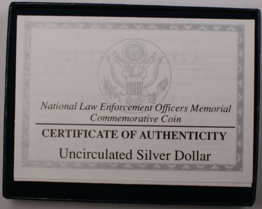1997 US Mint Law Enforcement Memorial UNC Silver Dollar Commemorative Coin