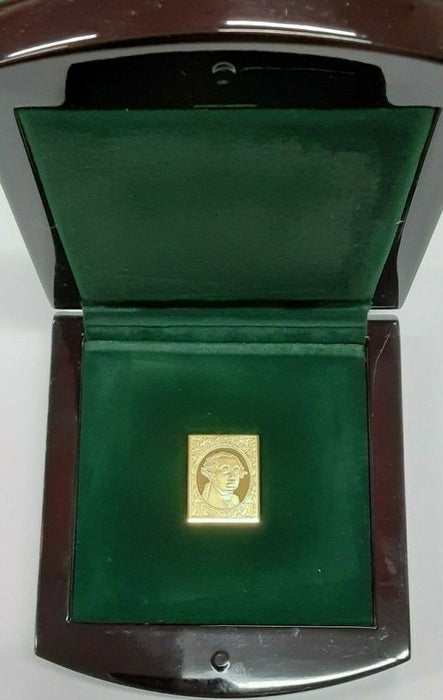 USPS Presidents Collection .999 Fine Gold Stamp/Case  George Washington