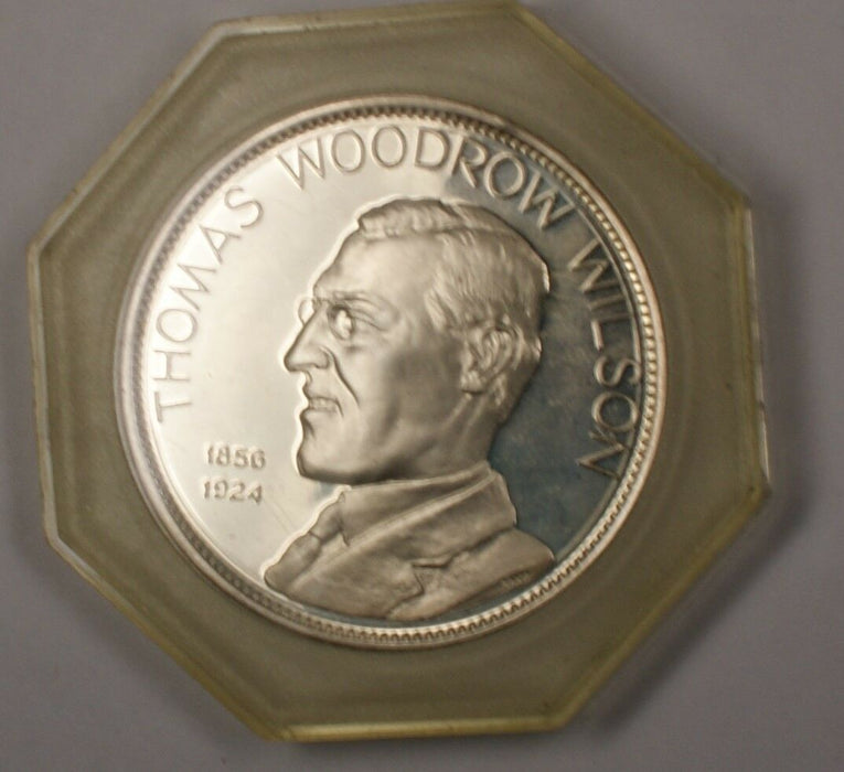 1969 President Thomas Woodrow Wilson Silver Proof Medal
