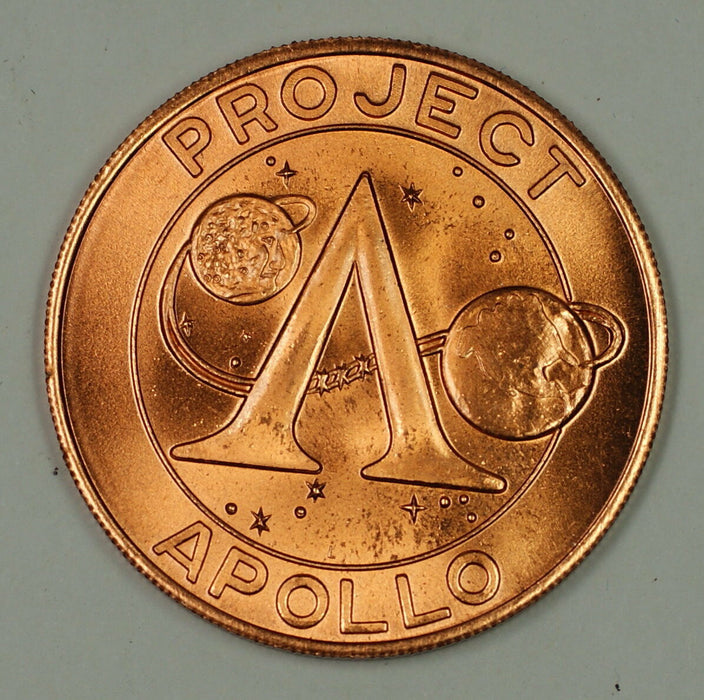 "Apollo XI 11 ""Project Apollo"" Commemorative Bronze Colored Space Medal"