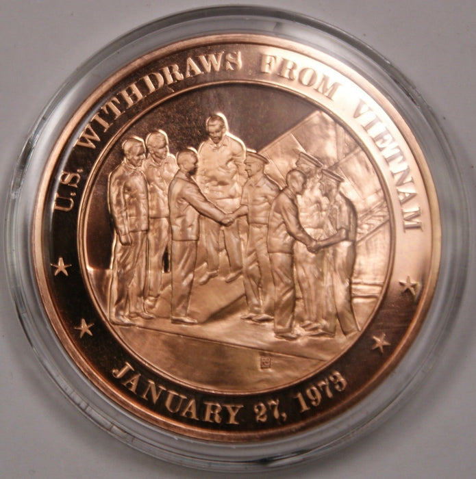Bronze Proof Medal U.S. Withdraws From Vietnam January 27, 1973