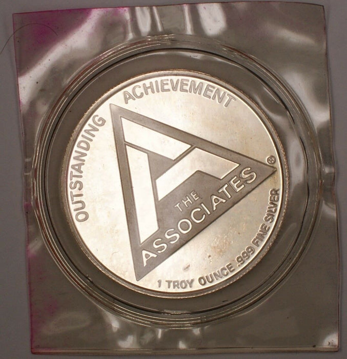 The Associates Outstanding Achievement Silver 999 Fine Pure 1 Troy Oz Round