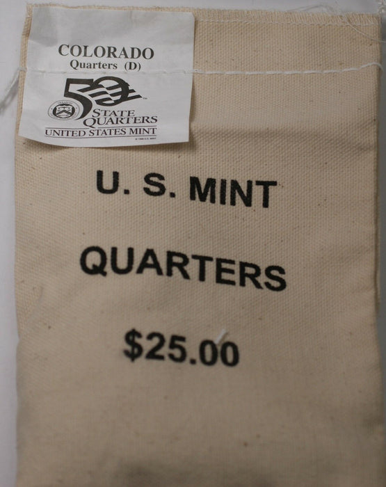 $25 (100 UNC coins) 2005 Colorado - D State Quarter Original Mint Sewn Bag