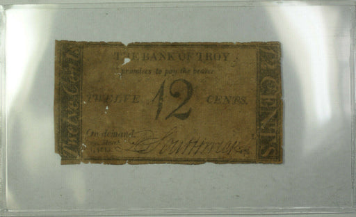 Bank of Troy 12 Cents Bank Note March 1st, 1815