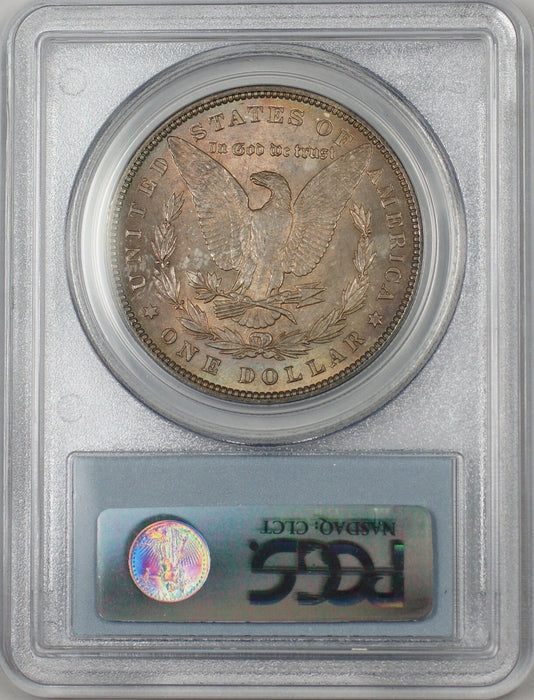 1896 Morgan Silver Dollar $1 Coin PCGS MS-63 Toned (BR-23G)