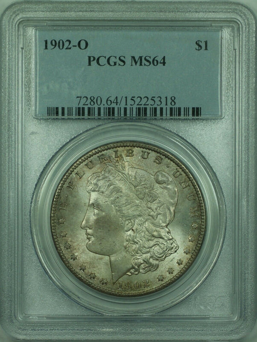 1902-O Morgan Silver Dollar S$1 PCGS MS-64 Toned