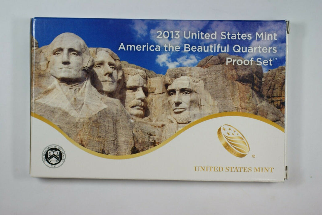2013 United States America the Beautiful Quarters Proof Set 5 GEM Coins W/ COA