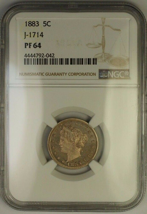 1883 Liberty Nickel Pattern Proof 5c Coin NGC PF-64 J-1714 Judd WW