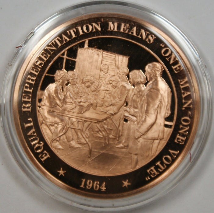 "Bronze Proof Medal Equal Representation Means ""One Man One Vote""1964"