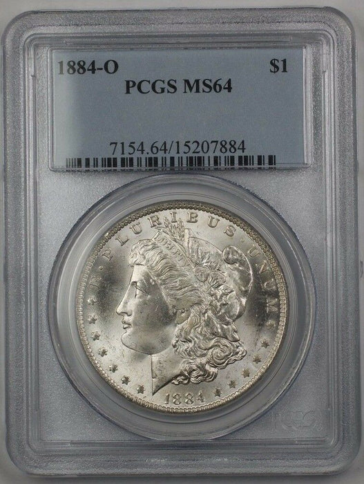 1884-O US Morgan Silver Dollar $1 Coin PCGS MS-64 (Better) BR3 T