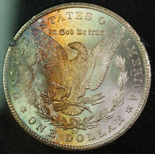 1884-CC GSA Morgan Dollar, NGC MS-65 Toned w/ Box & COA DGH