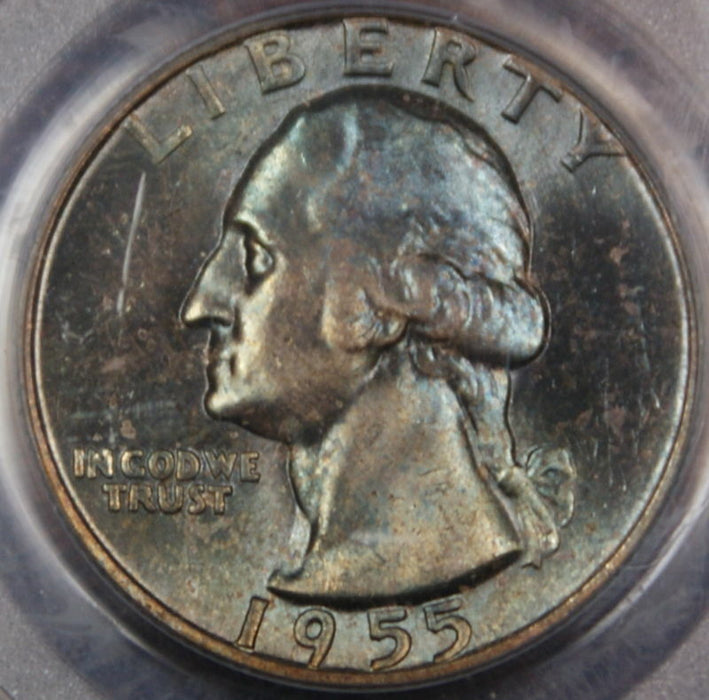 1955 Silver Washington Quarter, PCGS MS-65 *Toned*