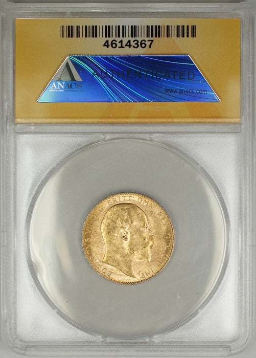 1909-P Australia Sovereign Gold Coin ANACS MS-61 (Y AMT)