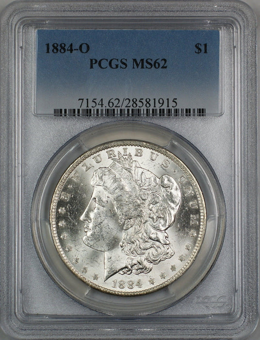 1884-O Morgan Silver Dollar $1 PCGS MS-62 (Better Coin) (2M)