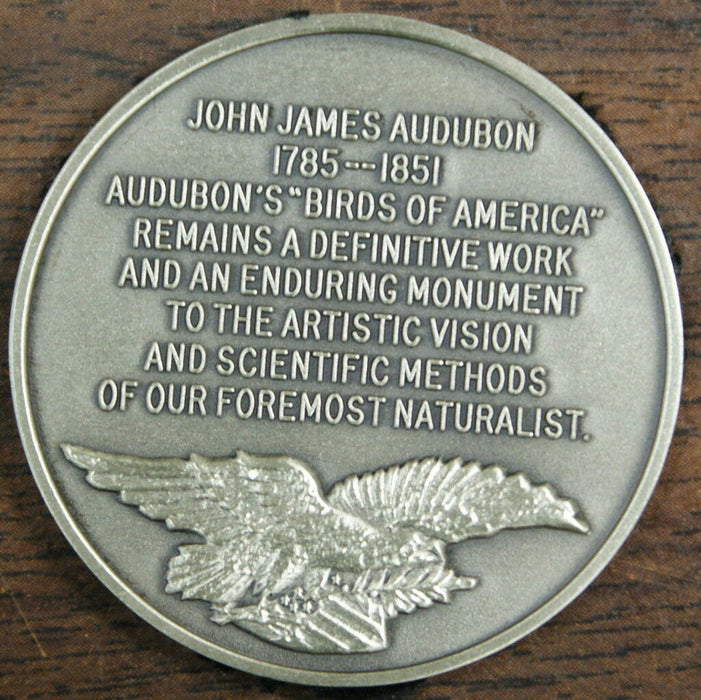 John James Audubon Sterling Silver Medal