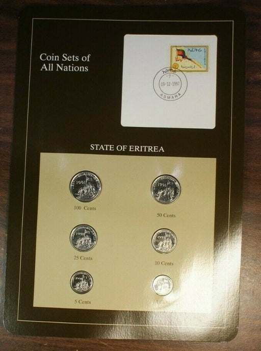 Coin Sets of All Nations State of Eritrea UNC 6 Coins BU