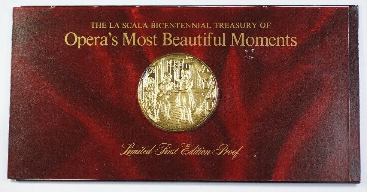 La Scala Operas Most Beautiful Moments Gold-Plated Silver Medal Hansel & Gretel