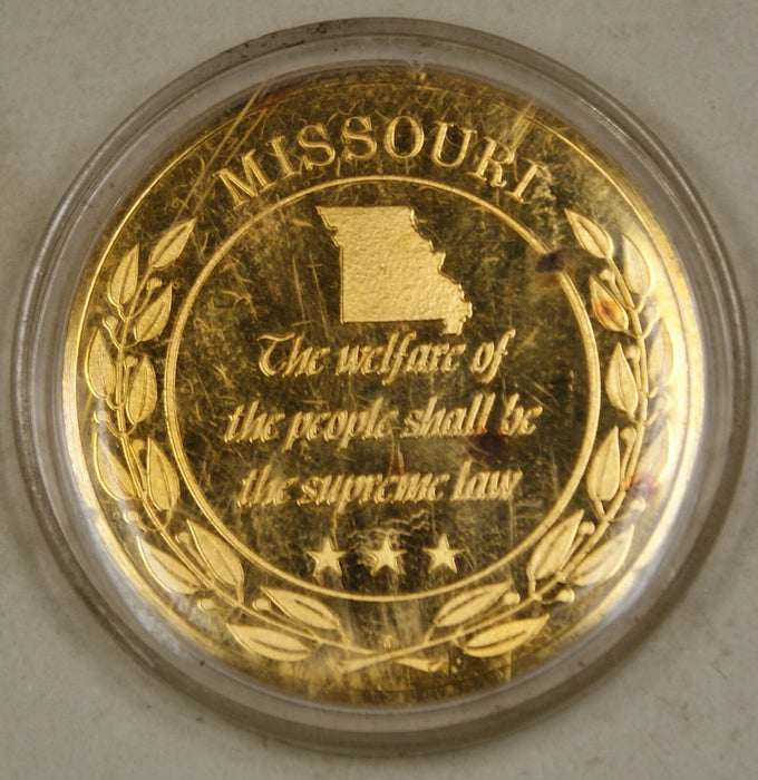 Gold Plated Sterling Silver Proof Medal Missouri