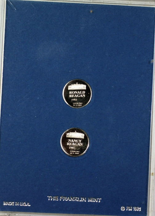 Presidents and First Ladies Mini Proof Sterling Silver Set through Regan in Case