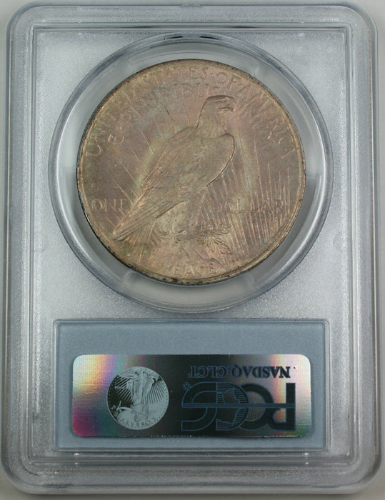 1923 Peace Silver Dollar Coin, PCGS MS-62 *Pink Reverse Toned*