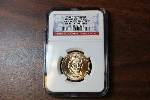 2007-P Thomas Jefferson Dollar NGC First Day of Issue