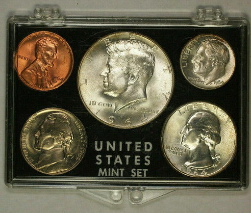 1964-D Silver Year Set with Cracked Case