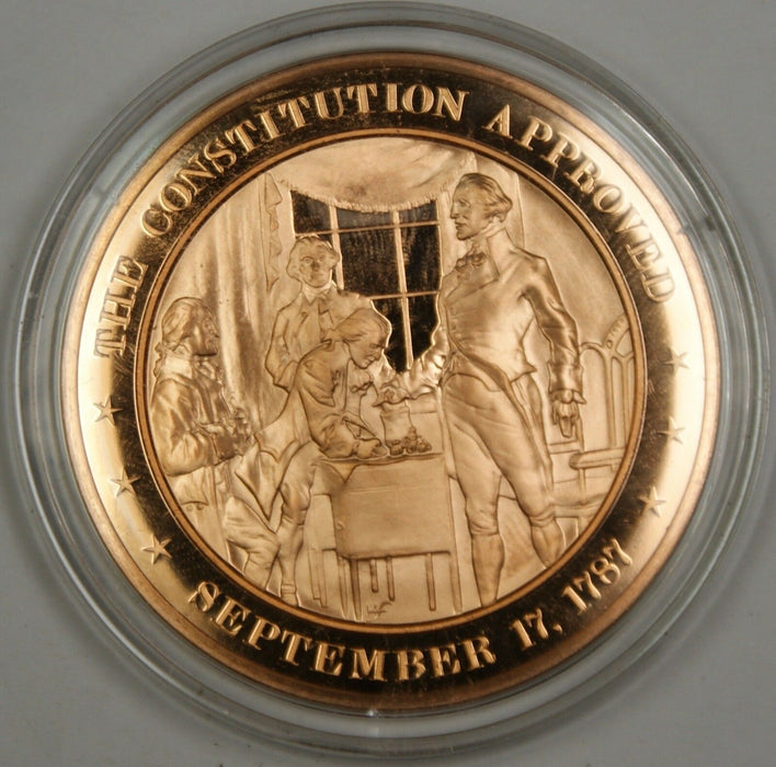 Bronze Proof Medal The Constitution Approved September 17 1787
