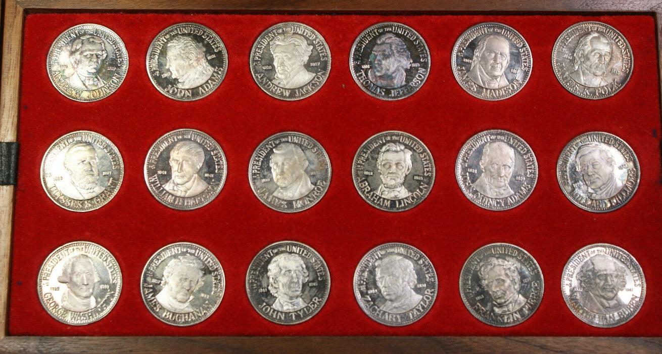 1972 Ital-Cambio Silver Uncirculated Presidents Washington- Nixon Medal Set