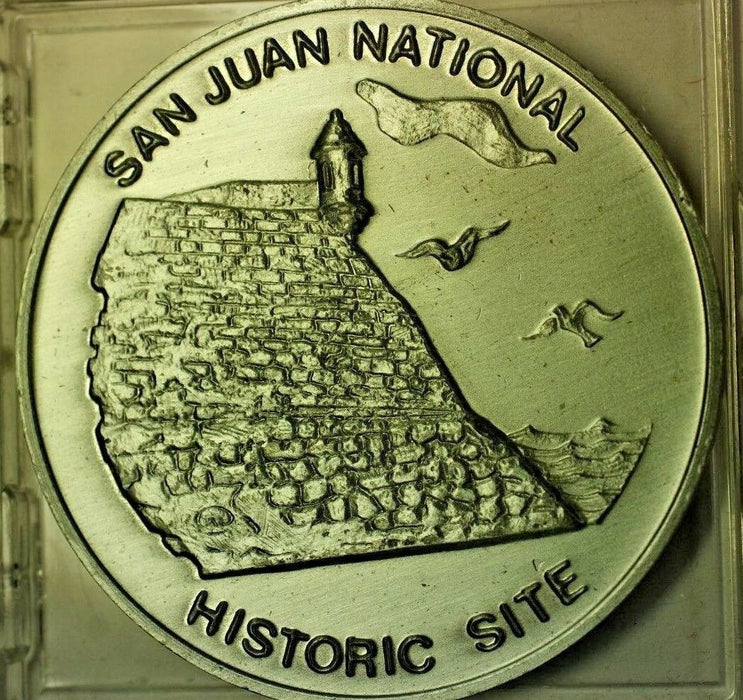 San Juan Puerto Rico National Historic Site Commemorative UNC Souvenir Medal COA