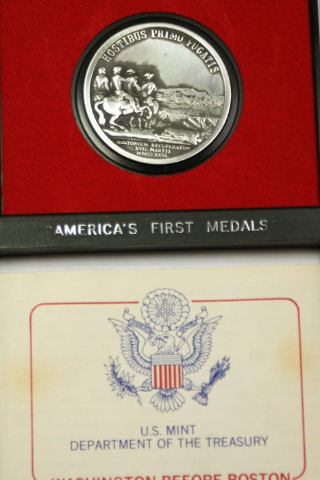 Washington Before Boston- America's First Medals- U.S.Mint Pewter w/Display Case