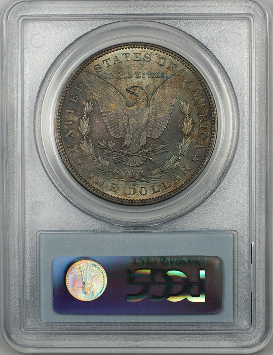 1889 Morgan Silver Dollar $1 Coin PCGS MS-63 Toned (BR-22 F)