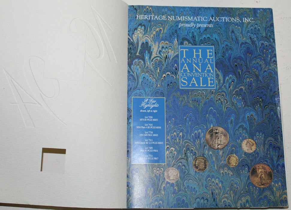 The Annual ANA Convention Sale 1994 Michigan Heritage Auction Catalog WW3A1