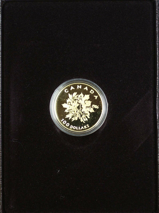 1986 Canada $100 Dollar 1/2 Oz Gold Proof Coin as Issued
