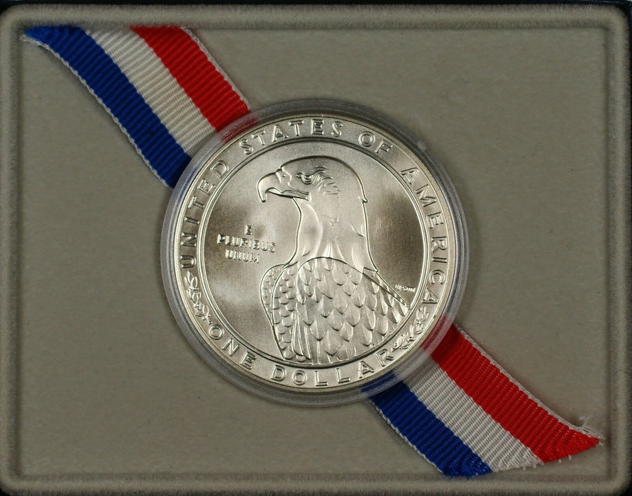 1983-P Los Angeles Olympic Commem Silver UNC $1 Coin in OGP NO OUTER SLEEVE