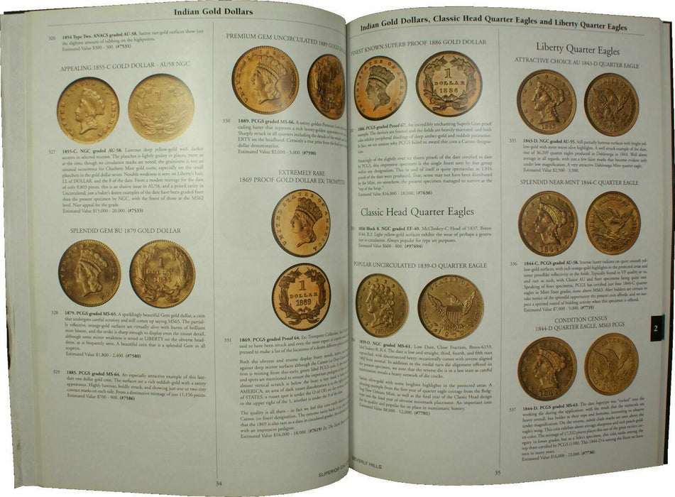 Feb 11-12 '08 Pre-Long Beach Elite Coin Auction Catalog Superior Galleries (A37)