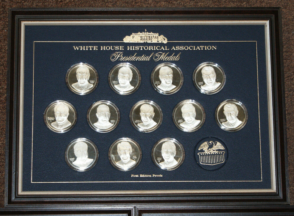 Franklin Mint 39 Presidential Silver Medals White House historical association
