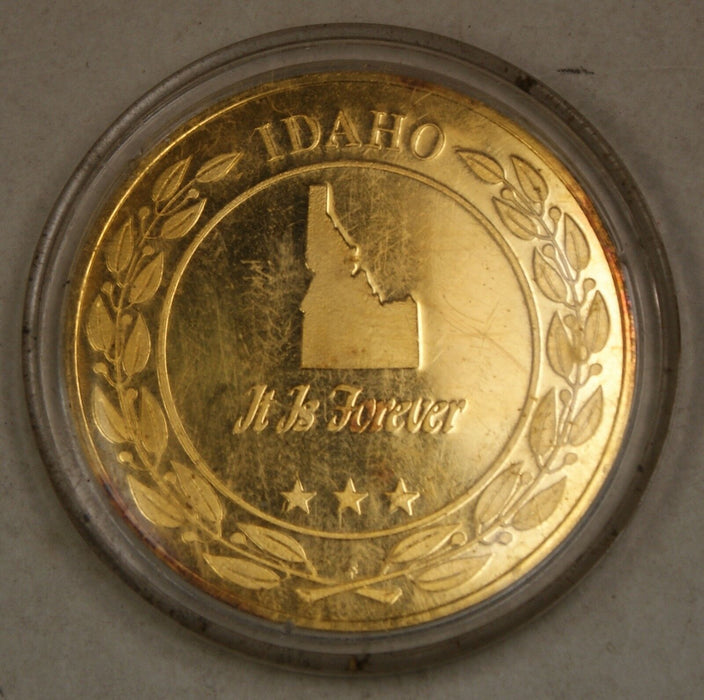 Gold Plated Sterling Silver Proof Medal Idaho
