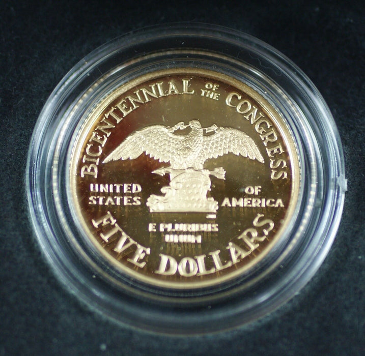 1989 W US Mint Congressional Commemorative Gold $5 Proof Coin