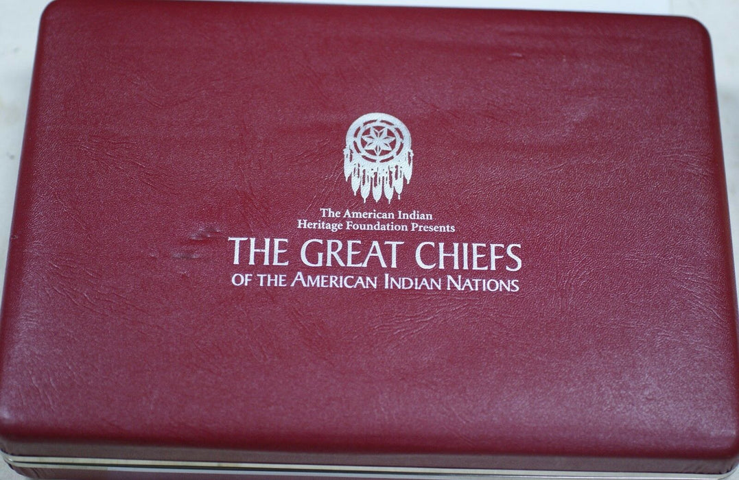 The American Indian Heritage Foundation Great Chiefs Silver Proof 12 Medal Set